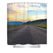Full Speed Ahead Shower Curtain