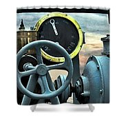 Full Steam Ahead Hmcs Haida Shower Curtain by Danielle  Parent