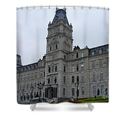 Full View Of Quebec's Parliament Building Shower Curtain