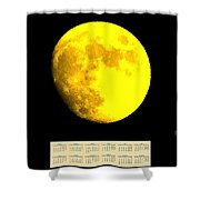 Full Yellow Moon 2014 Calendar Shower Curtain