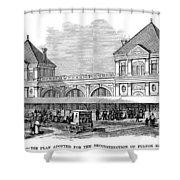 Fulton Fish Market, 1881 Shower Curtain