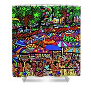 Fun Beach Shower Curtain