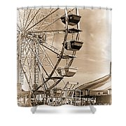 Fun Ferris Wheel Shower Curtain