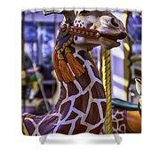 Fun Giraffe Carousel Ride Shower Curtain