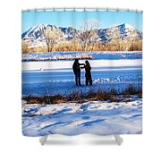 Fun On The Ice Shower Curtain
