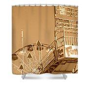Fun Slide Sepia Shower Curtain