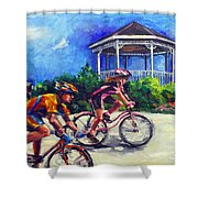 Fun Time In Bicycling Shower Curtain