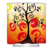 Fun Tree Of Life Impression Iv Shower Curtain