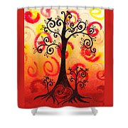 Fun Tree Of Life Impression Vi Shower Curtain
