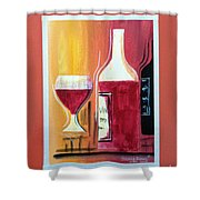 Fun Wine Time Shower Curtain