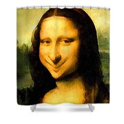 Fun With Mona Lisa Shower Curtain