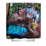 Function Junction Train Wreckage Shower Curtain