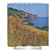 Fundy Bay Coastline Near Cliffs Of Cape D'or-ns Shower Curtain