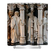 Funeral Procession Of The Friar - Palace Dijon Shower Curtain