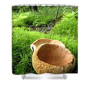 Fungi Cup Shower Curtain