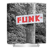 Funk Road Shower Curtain