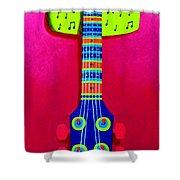 Funkadelic Guitar Shower Curtain