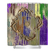 Funky British Shilling Shower Curtain