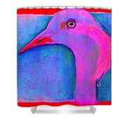 Funky Demoiselle Crane Bird Art Prints Shower Curtain