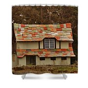 Funky House On 17 Mile Drive Shower Curtain
