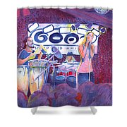 Funky Johnson At The Goat Shower Curtain