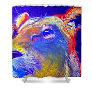 Funky Lioness Jungle Queen Shower Curtain