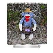 Funky Monkey - Purple Peeps Shower Curtain