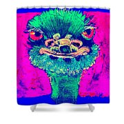 Funky Ostrich Cool Dude Art Prints Shower Curtain