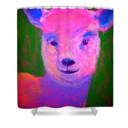 Funky Pinky Lamb Art Print Shower Curtain