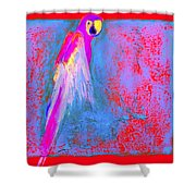 Funky Rainbow Parrot Art Prints Shower Curtain