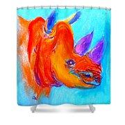 Funky Rhino African Jungle Shower Curtain