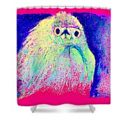 Funky Snowy Egret Bird Art Prints Shower Curtain