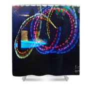 Funnel Of Lights Shower Curtain
