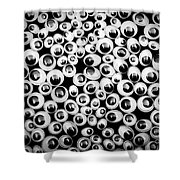 Funny Eyes Background Shower Curtain