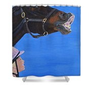 Funny Face - Horse And Child Shower Curtain