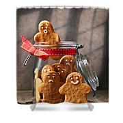 Funny Gingerbread Men Shower Curtain