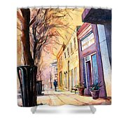 Fuquay-varina Downtown Shower Curtain