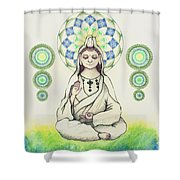 Fureai Quan Yin In Kyoto Shower Curtain