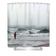 Furious Solitude Shower Curtain by Skip Willits