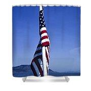 Furled Flag Shower Curtain