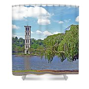 Furman Tree And Tower Shower Curtain