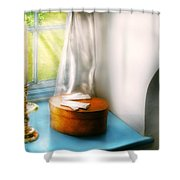 Furniture - Lamp - In The Window  Shower Curtain