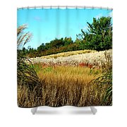 Furry Hill Shower Curtain