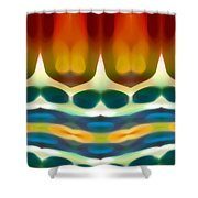 Fury Pattern 7 Shower Curtain by Amy Vangsgard