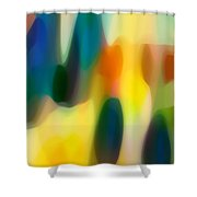 Fury Rain 3 Shower Curtain by Amy Vangsgard