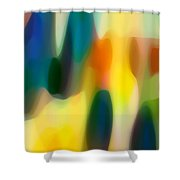 Fury Rain 5 Shower Curtain by Amy Vangsgard