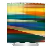 Fury Seascape 7 Shower Curtain by Amy Vangsgard
