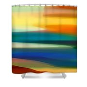 Fury Seascape II Shower Curtain by Amy Vangsgard