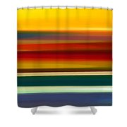 Fury Seascape Panoramic 2 Shower Curtain by Amy Vangsgard