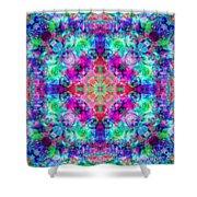 Fushia Rainbow Mandala Shower Curtain